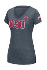 "Top of the World Ohio State Buckeyes ""OSU"" Heather Gray Tee"