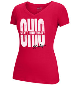 Top of the World Ohio State Buckeyes OHIO V-Neck Tee
