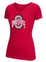 Top of the World Ohio State University Basic Ath O Cotton V-neckTee