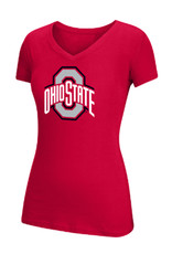 Top of the World Ohio State University Basic Ath O Cotton V-neckTee