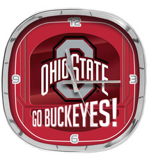 Ohio State Buckeyes Rounded Square Clock