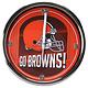 Cleveland Browns Historic Logo Go Team Chrome Wall Clock