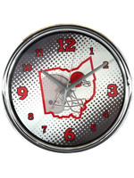 """Cleveland Browns State of Mind 12"""" Chrome Wall Clock"""