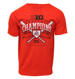 Top of the World Ohio State Buckeyes Baseball 2019 Big Ten Champs Tee