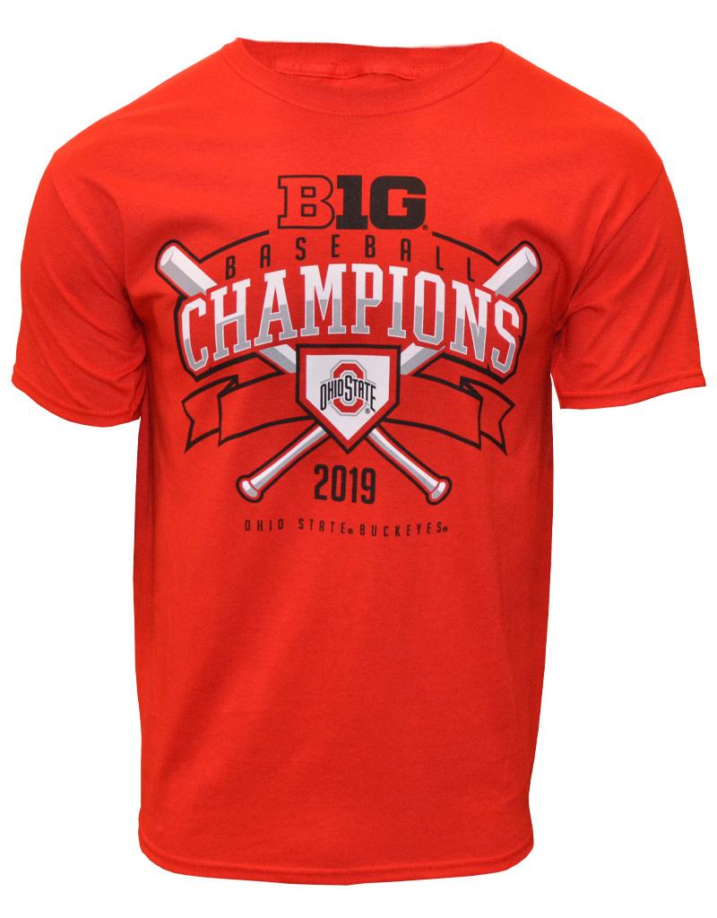 Top of the World Ohio State Buckeyes Baseball 2019 Big Ten Champs Tee