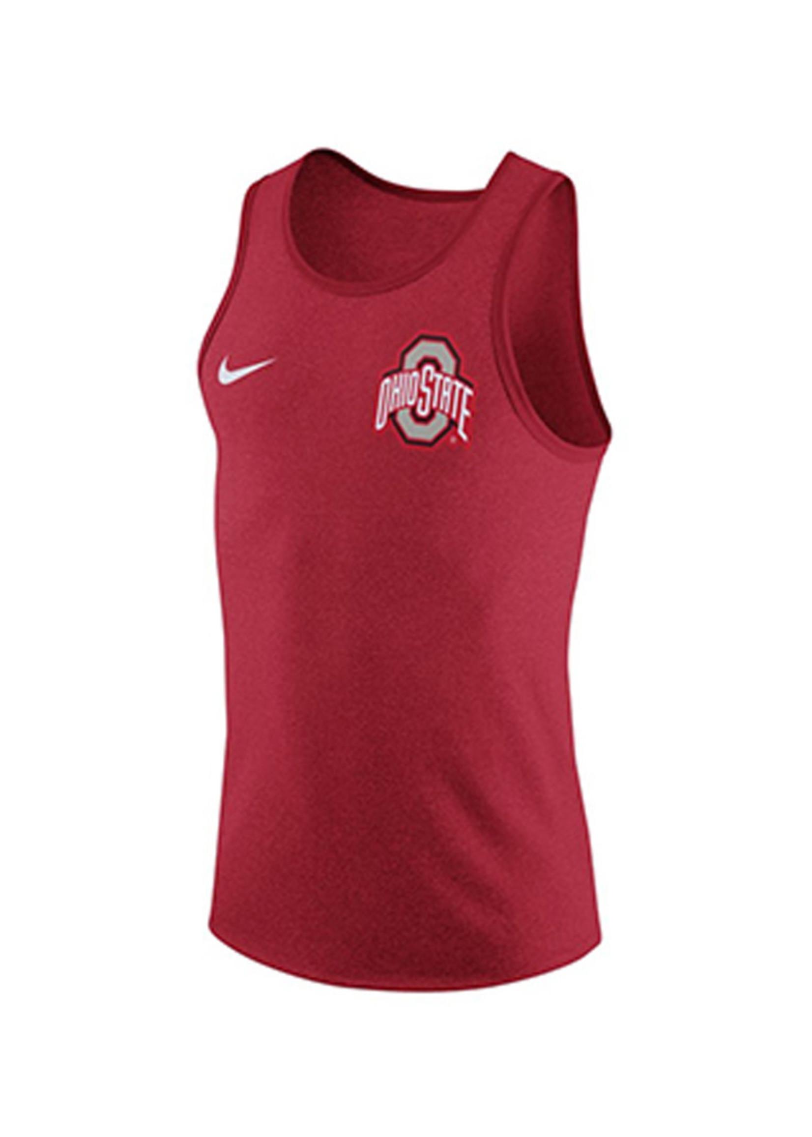 Nike Ohio State University Red Marled Tank