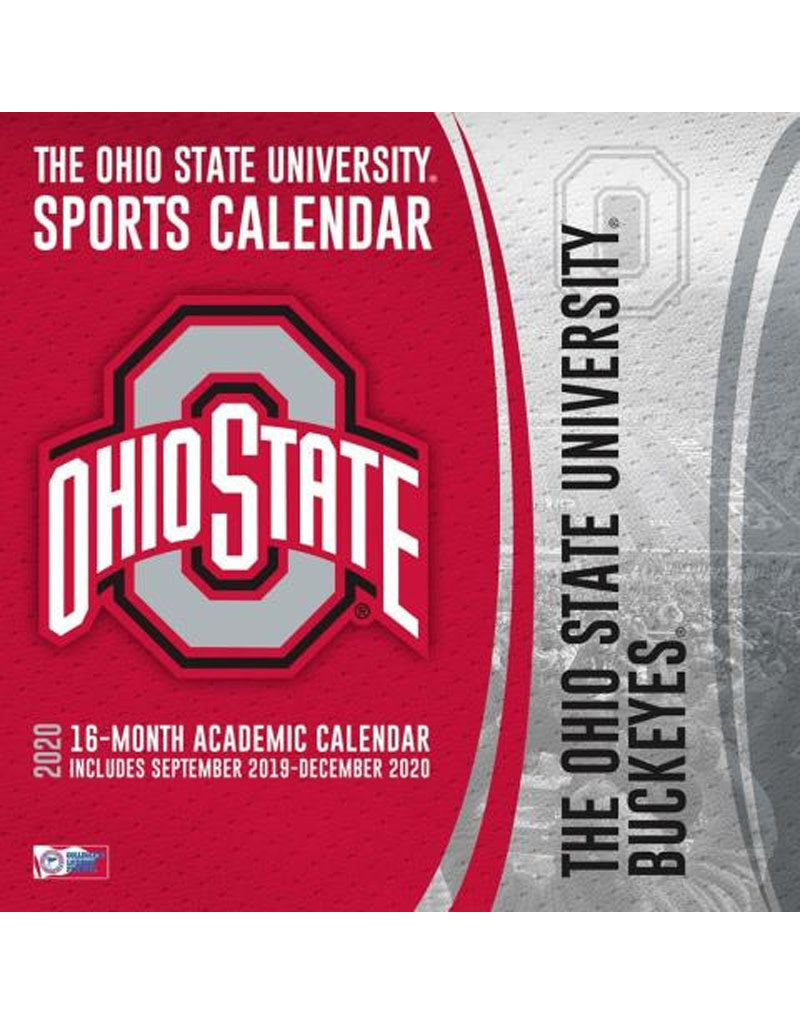 Ohio State Buckeyes 16 - Month Wall Calendar
