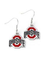 Ohio State Buckeyes Athletic O  Dangler Earrings