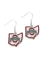 Ohio State Buckeyes - State Design Earrings