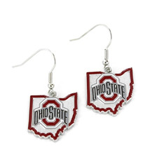 Ohio State Buckeyes - State Design Earrings