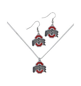 Ohio State Buckeyes Athletic O Earrings and Necklace Set