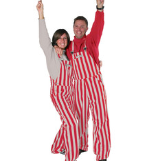 Scarlet & Grey Adult Overalls
