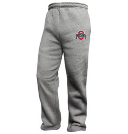 Ohio State Buckeyes Mens Grey Open Sweatpants