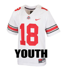 Nike Ohio State Buckeyes Youth #18 White Replica Football Jersey