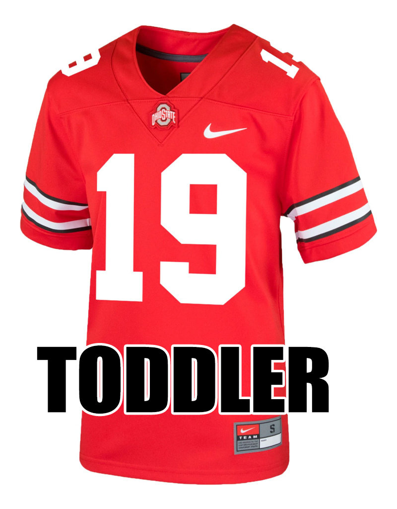 the latest 91dae d56c3 Nike Ohio State Buckeyes Toddler #19 Nike Replica Football Jersey