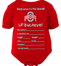 Ohio State Buckeyes Infant Welcome to the World Creeper