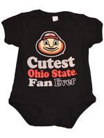 Ohio State Buckeyes Infant Cutest Fan Ever Creeper