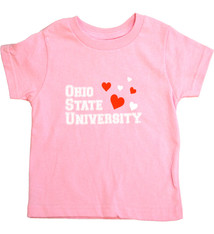 Ohio State Buckeyes Toddler Hearts Pink Tee