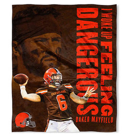 Cleveland Browns Baker Mayfield HD Silk Touch Throw Blanket