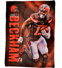 Cleveland Browns Odell Beckham Jr HD Silk Touch Throw Blanket