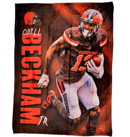 Cleveland Browns Odell Beckham Jr HD Silk Touch Throw Blanket