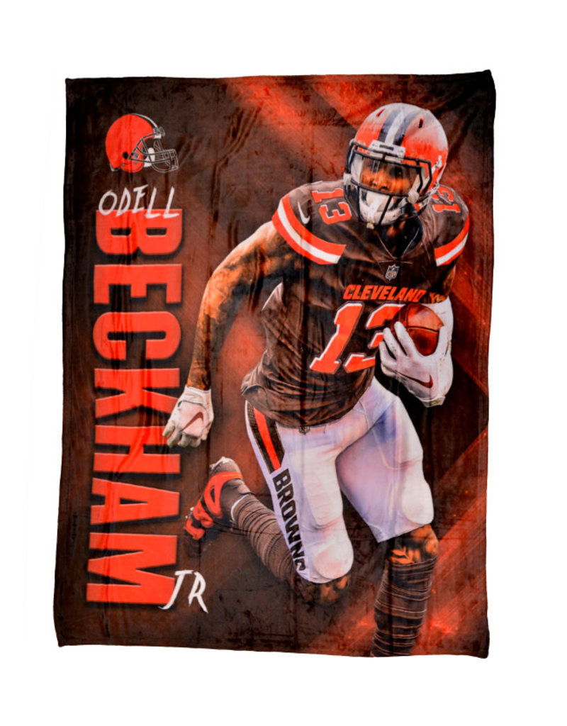check out baef3 135a0 Cleveland Browns Odell Beckham Jr HD Silk Touch Throw Blanket