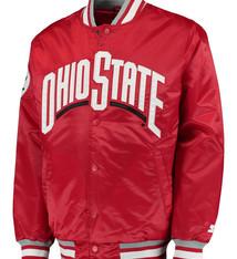 Starter Ohio State Buckeyes The Captain Button-Up Satin Starter Jacket -XL