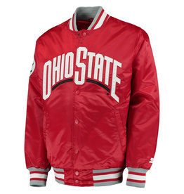 Starter Ohio State Buckeyes The Captain Button-Up Satin Starter Jacket