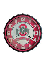 Ohio State Buckeyes Bottle Cap Wall Clock