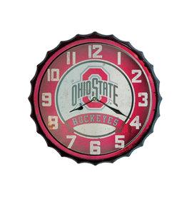 Ohio State Buckeyes Bottle Cap Wall Clock