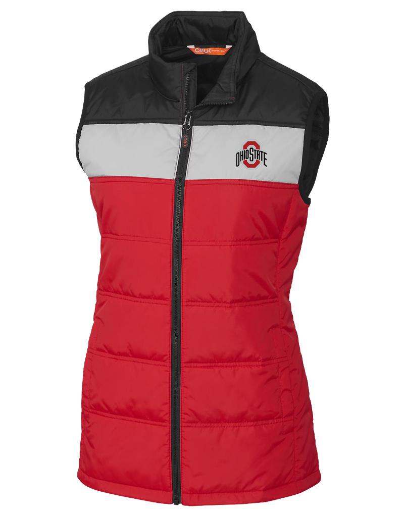 Cutter & Buck Ohio State Buckeyes Womens Thaw Sleeveless Jacket