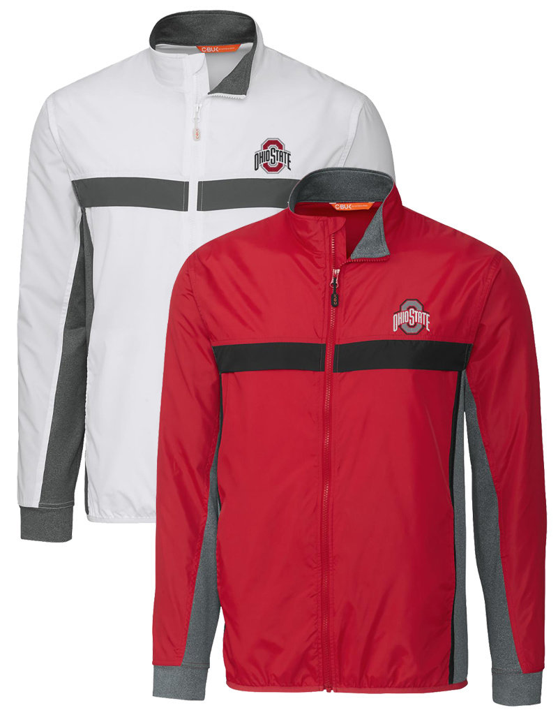 Cutter & Buck Ohio State Buckeyes Mens Wind Resistant Full Zip Jacket
