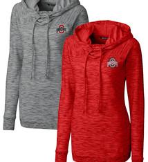 Cutter & Buck Ohio State Buckeyes Women's L/S Tie Breaker Hoodie Jacket