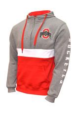 Ohio State Buckeyes Fleece Colorblock 1/2 Zip Hoodie