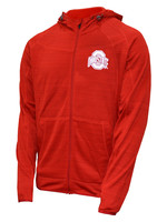 Ohio State Buckeyes Full Zip Hoodie with Thumb Holes