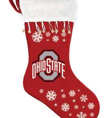 Ohio State Buckeyes Snowflake Stocking