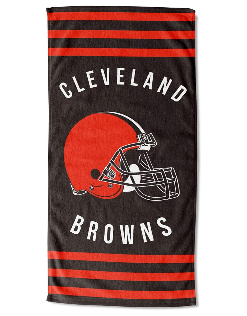 Cleveland Browns Striped Beach Towel