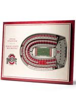 Ohio State Buckeyes 5-Layer StadiumViews 3D Wall Art