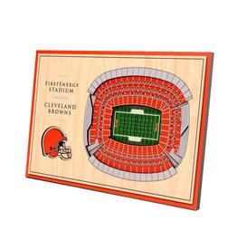 Cleveland Browns 5-Layer StadiumViews 3D Wall Art of FirstEnergy Stadium