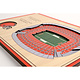 Cleveland Browns 5-Layer StadiumViews 3D Wall Art of FirstEnergy Stadium