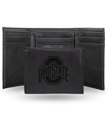 Ohio State Buckeyes Laser Engraved Trifold Wallet