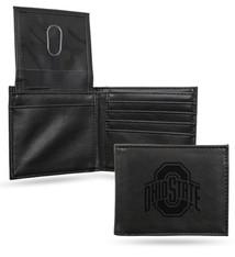 Ohio State Buckeyes Laser Engraved Billfold Wallet
