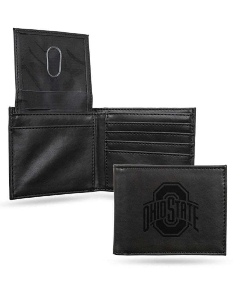 Ohio State Buckeyes Laser Engraved Billfold Wallet