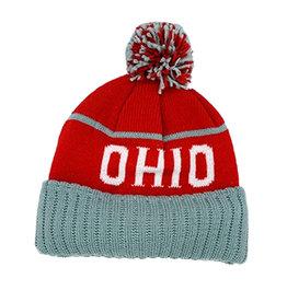 Ohio Red and Gray Beanie