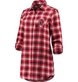 Ohio State Buckeyes Women's Button-Up Flannel Shirt