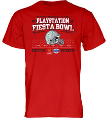 Ohio State Buckeyes 2019 Fiesta Bowl Bound Wheel Route T-Shirt