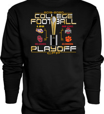 2019 College Football Playoffs 4 Team Crewneck Sweatshirt