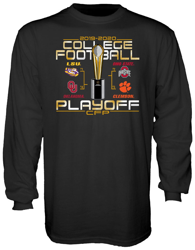 2019 College Football Playoffs 4 Team Long Sleeve