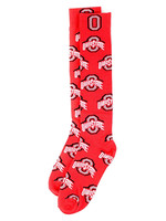 "Ohio State Buckeyes ""Atheltic O"" Red Dress Socks"
