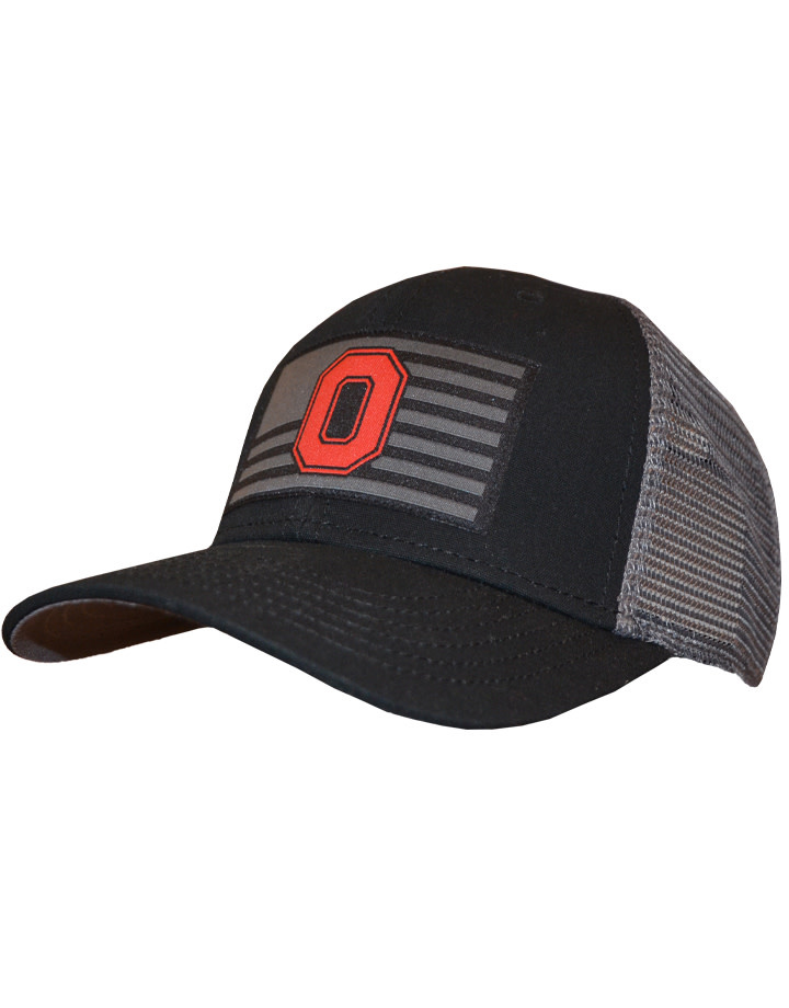Top of the World Ohio State Buckeyes Back the Flag Trucker Snapback Hat